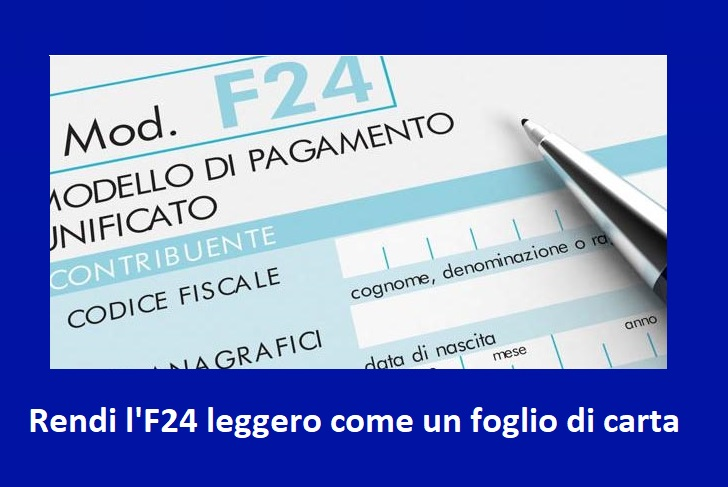 Come ridurre l'importo dell'F24 in modo lecito evitando un errore comune