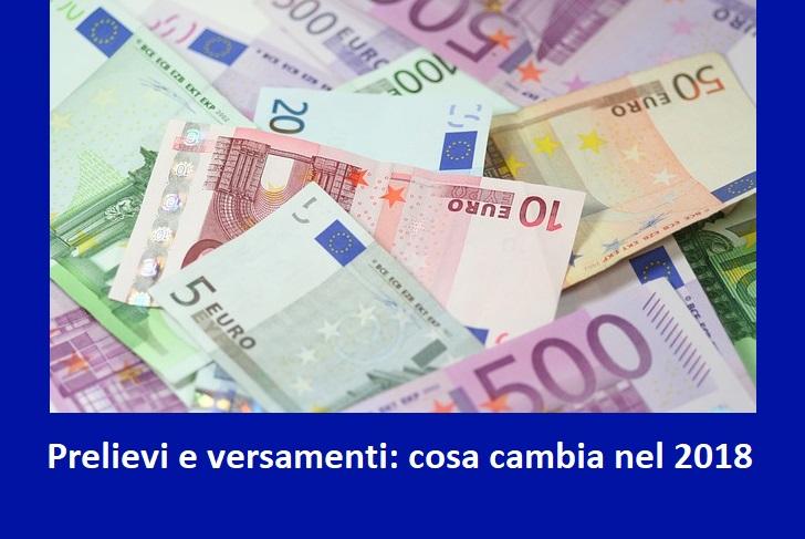 Prelievi e versamenti 2020: cosa cambia quali sono i nuovi limiti ai prelievi e versamenti di contanti